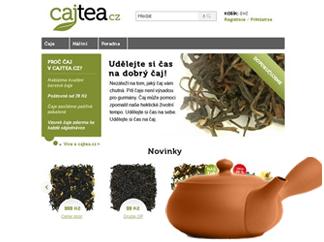 Cajtea.cz – Web design internetového obchodu Cajtea.cz