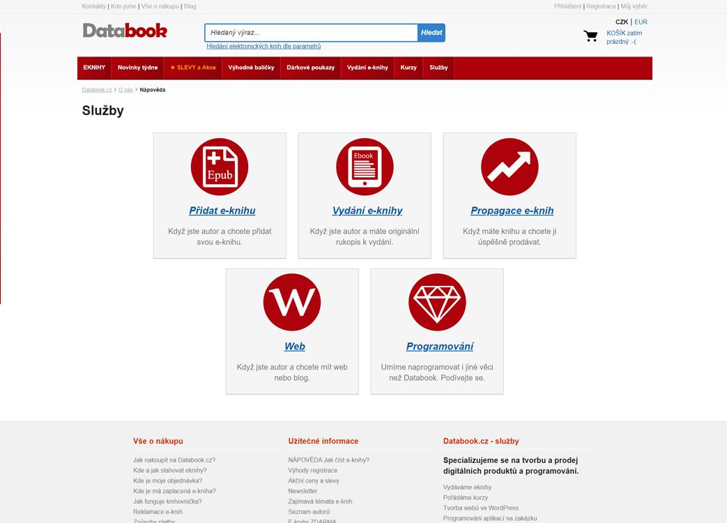 Kompletní tvorba eshopu Databook