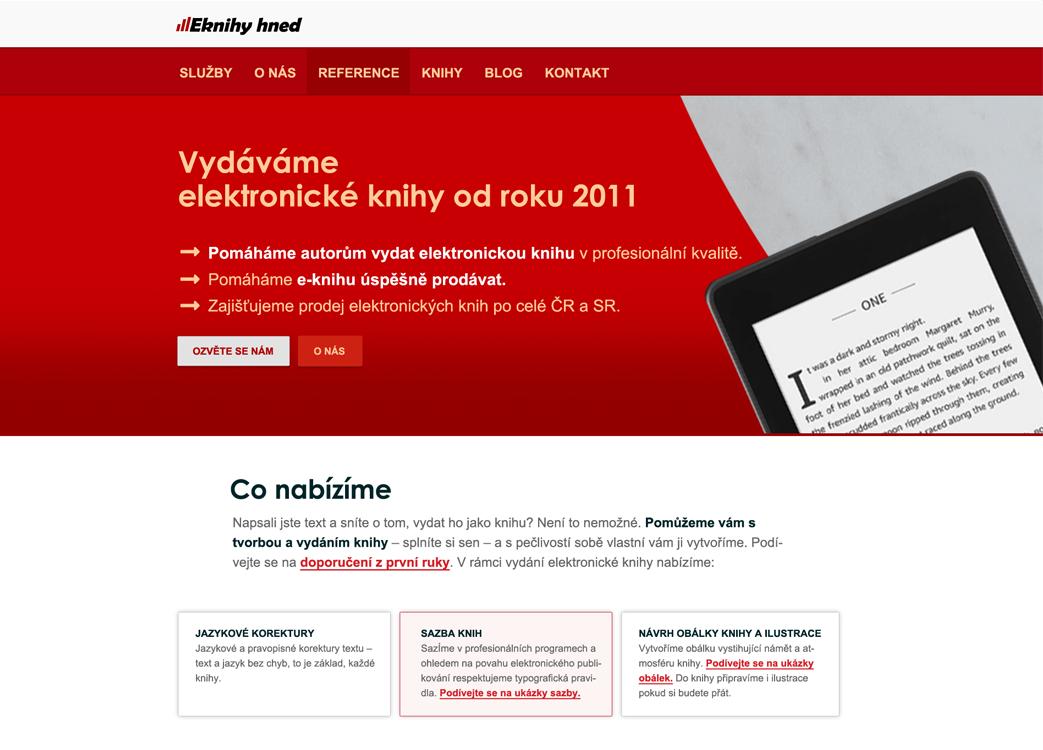 Kompletní tvorba  webových stránek eknihyhned.cz na WordPressu.