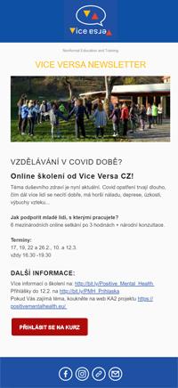 Návrh newsletteru pro ViceVersa